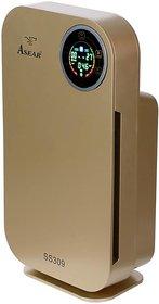 Air Quality Sensor ,LCD Display, Gold  Portable Room Air Purifier  Gold