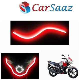 love4ride Universal Flexible Red 30cm Bike Headlight Neon Light/Tube