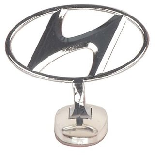 Car Auto Hood Bonnet Ornament Chrome Emblem - Hyundai