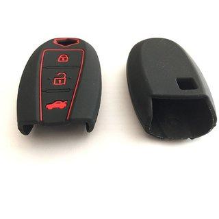 CP Bigbasket Silicon Key Cover for Suzuki Vitara Brezza / SCross / Baleno / Swift / Ciaz smart key (Black)