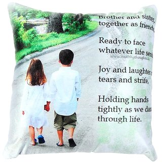 Buy Welhouse Brother Sister Love Printed Cushion Cover Vlcu 043
