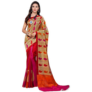 Winza Multicolor Art Silk Printed Saree With Blouse