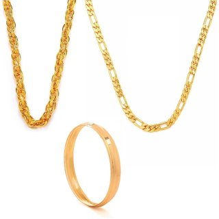 Traditional Men combo of 2 Chains and a Kada by GoldNera
