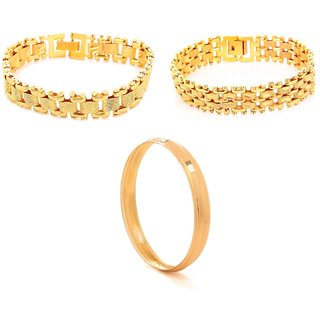 Combo of 2 Adjustable Bracelets with Wedding Kada by GoldNera