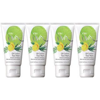 Vasu UVA Oil Control Herbal Facewash (60 ML X 4)