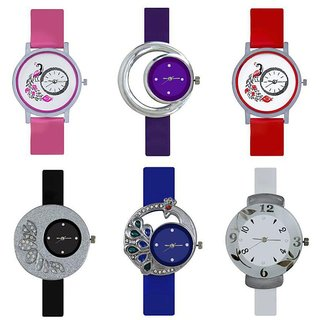 7Star Glory Multicolour Analog Watches - Pack of 6