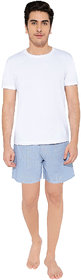 KARPA Blue and White Micro Chequered Boxer for Men