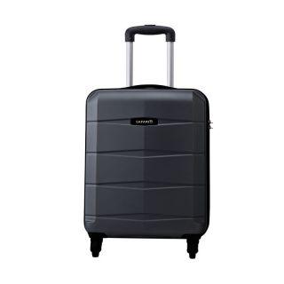 Safari RE-GLOSS-4 Wheel-55-BLACK-Antiscratch Unisex Hard Luggage Trolley Bag