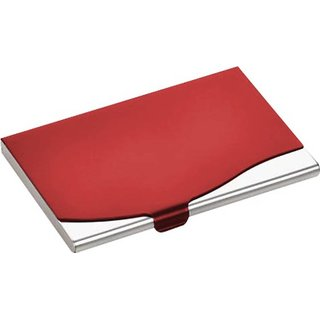 Red Stainless Steel Credit Card Holder
