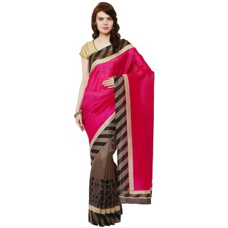 SUDARSHAN BHAGALPURI DESIGNER SAREE-Pink-MSD18-VO-Bhagalpuri