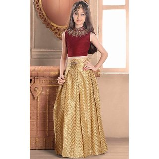 Sudarshansilk Gold Bhagalpuri Silk Plain Saree With Blouse
