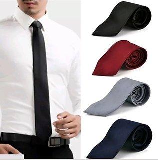 ShopLuvOnline Combo set of 4 slim necktie tie Birthday B'day Gift