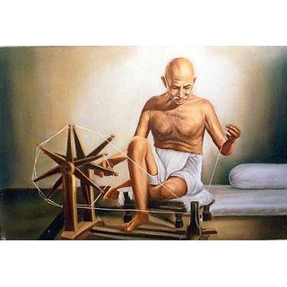 Online Gandhiji's Charkha (Spinning wheel) + Gandhiji