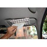 Car Sun Visor Tissue Paper Box Holder (In White Colour)