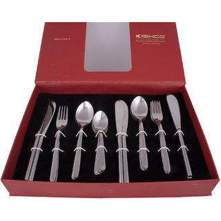 Kishco Stainless Steel Vale 24 Pcs Cutlery Set In Gift Box