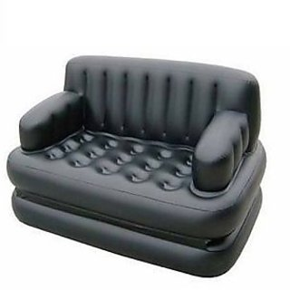 5 In 1 Black Inflatable Sofa Bed - 5IN1BD01