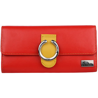 Goldmine Designer Wallet For Girls and Women's (Red) Party Ware