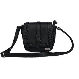 Goldmine Designer Sling Bag For Girls and Women's (Black) Party Ware