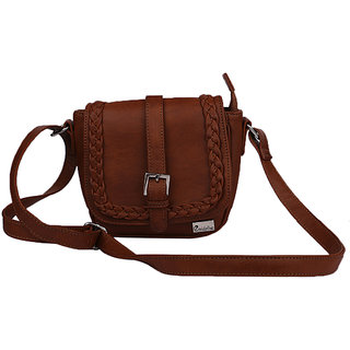 ad850116ccfc Buy Goldmine Designer Sling Bag For Girls and Women s (Brown) Party Ware  Online   ₹899 from ShopClues