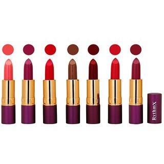 Rythmx  Creme Lipstick  Pop Colors  4 gm Pack of 7