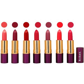 Rythmx  Creme Lipstick  Pop Colors  4 gm Pack of 7