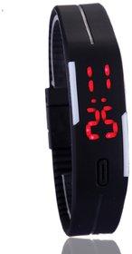 Frenzy Men Women LED Digital fashion Watch, Sports Bracelet Watch Black