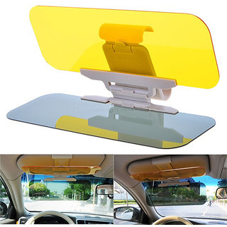 Buy DLT 2 In 1 Hd Car Anti-Glare Dazzling Day Night Vision Driving Mirror  Sun Visors Online - Get 0% Off bde241a5bb7