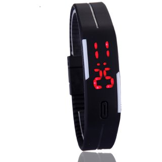 Frenzy Men Women LED Digital fashion Watch, Sports Bracelet Watch Black