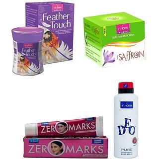 Women Care Kit (Hair Remover Honey/Saffron  Saffron old Fairness Cream  Zero Marks Cream  Deo Pure)