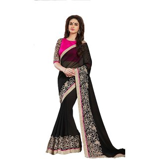 KHODALENTERPRISE1997 Embroidered Work With Blouse Multicolored Georgette Saree 175