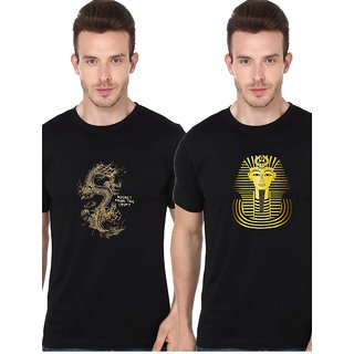 Chinese Dragon and Egyptian Faroah novelty t shirt combo for men