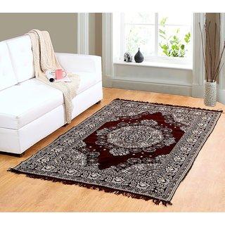 Welhouse Brown chenille carpet (85 inch X 55 inch) CNCPT-06