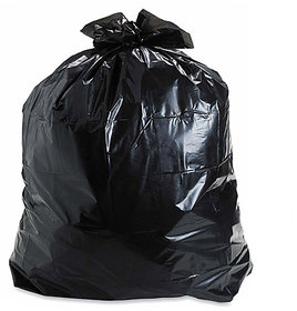 300 Pieces Black Medium Disposable Garbage / Dust Bin Bag