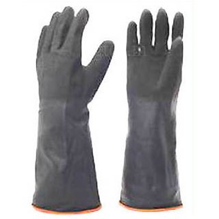 Rubber Gloves Hand Gloves Size Large Latex Wash Clean Hand Protector Gloves In