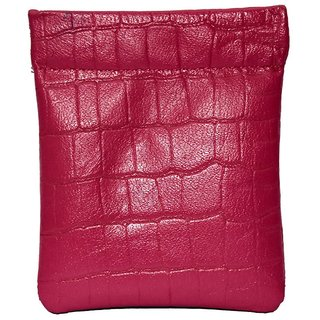 Leather Snap Coin Purse Pink PG0078