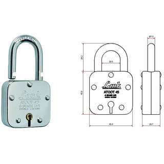 Link Atoot Padlock Brass and steel 45 mm by SmartShophar