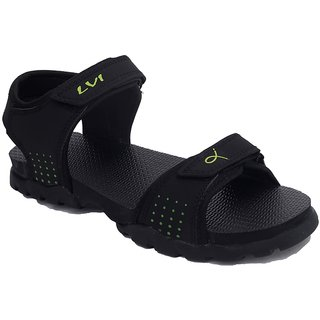 Lvi Men's Black Velcro Floaters