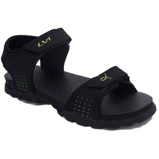 Rod Takes LVI-2-Green Black Floater Sandals