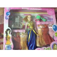 BARBIE DOLL GIFT SET WITH  Beautiful Trendy Dresses Toy For Kids Baby Girl Child