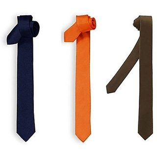 Solid Men's Tie (pack of three)