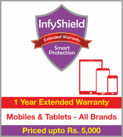 InfyShield 1 Yr Extended Warranty on Mobiles & Tablets Priced Upto Rs.5000