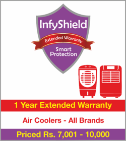 InfyShield 1 Yr Extended Warranty on Air Coolers Priced Rs.7001 - 10000