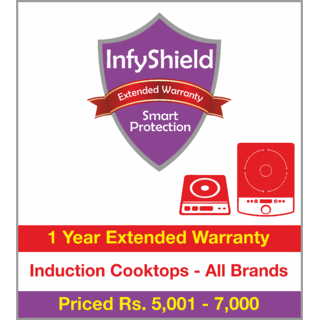 InfyShield 1 Yr Extended Warranty on Induction Cooktops Priced Rs.5001 - 7000