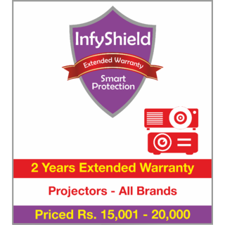 InfyShield 2 Yrs Extended Warranty on Projectors & Presenters Priced Rs.15001 - 20000