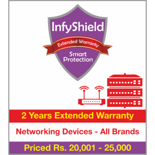 InfyShield 2 Yrs Extended Warranty on Networking Devices Priced Rs.20001 - 25000