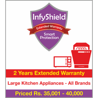 InfyShield 2 Yrs Extended Warranty on Large Kitchen Appliances Priced Rs.35001 - 40000 (Chimneys, Hood, Microwaves, OTG and Dishwashers)