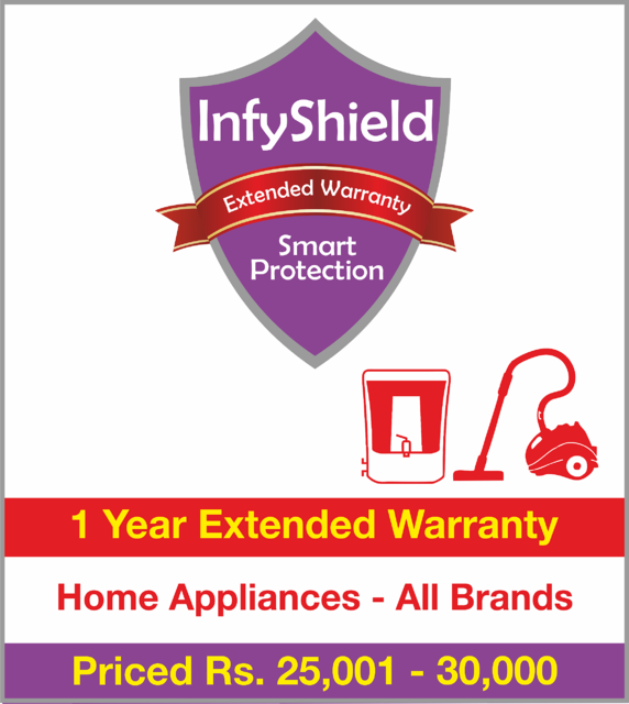 Buy Infyshield 1 Yr Extended Warranty On Home Appliances Priced Rs 25001 30000 Online 2299 From Shopclues