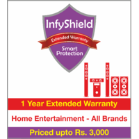 InfyShield 1 Yr Extended Warranty on Home Entertainment - Speakers, Soundbars and Home Theater Systems  Priced Upto Rs.3000