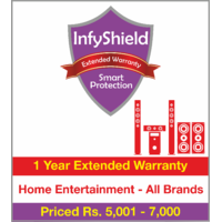 InfyShield 1 Yr Extended Warranty on Home Entertainment - Speakers, Soundbars and Home Theater Systems  Priced Rs.5001 - 7000