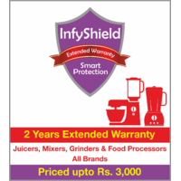 InfyShield 2 Yrs Extended Warranty on Juicers, Mixers, Grinders and Food Processors Priced Upto Rs.3000